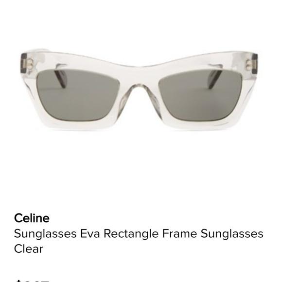 8657c2fbf1ff Celine Other - Celine clear Eva Sunglasses